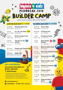 program liburan, bricks4kidz camp, lego camp, holiday camp 2018