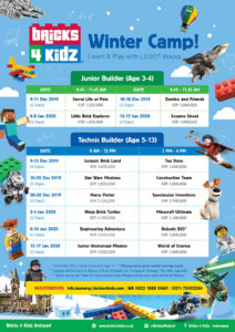 Bricks 4 Kidz Camp Schedule 2019-2020